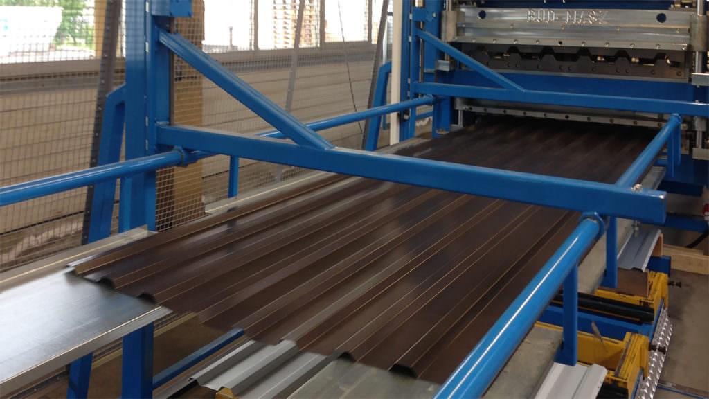 Unsere Maschine zur Herstellung von Trapezblechen